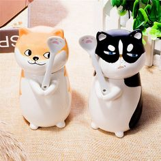 3D Cute Cartoon Dog Ceramics Water Cups Lover Coffee Mugs With Spoon Kids Gift #Unbranded