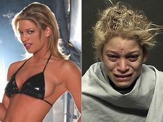 Model Kumari Fulbright, before and after meth addiction.