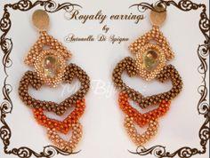 Royalty earrings - designed created by Antonella Di Spigno (MeiBijoux 2014). MeiBijoux fan page: https://www.facebook.com/244434058927046/photos/a.654831581220623.1073741835.244434058927046/654832431220538/?type=3theater