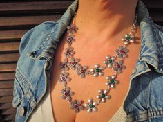 Check out this item in my Etsy shop https://www.etsy.com/listing/229175431/boho-necklace-bib-necklace-statement
