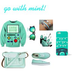 """""""GO IT WITH MINT!"""" by okerina on Polyvore"""