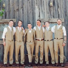 Striking Groomsmen Attire // photo by: The Nichols // http://www.theknot.com/weddings/album/a-retro-rustic-wedding-in-austin-tx-136754