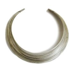 Unique multi-ring necklace made by an art group in India. #fairtrade $25