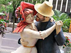 """""""A Turn of the Century,"""" sculpture by Seward Johnson, on the Broadway Pedestrian Mall, New York City. Seward Johnson, Broadway Nyc, Pedestrian, New York City, Mall, Sculpture, Canon, June, New York"""