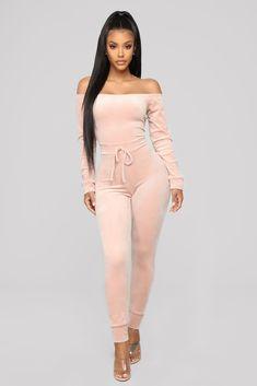 Need A Hug Velour Jumpsuit - Pink – Fashion Nova Velour Jumpsuit, Pink Jumpsuit, Pink Fashion, Daily Fashion, Fashion Outfits, Fasion, Fashion Ideas, Fashion Nova Jumpsuit, Loungewear Outfits