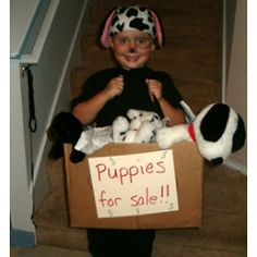 Easy Homemade Halloween Costumes | Puppies For Sale Costume | Easy Homemade Halloween Costumes | Disney ...