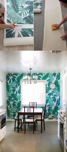 Cómo empapelar tus paredes / http://lovelyindeed.com