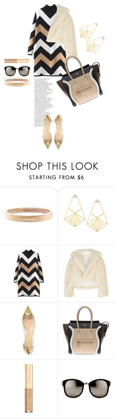"""Black & Gold"" by indigo-summer ❤ liked on Polyvore featuring Chanel, Toga, Nicholas Kirkwood, CÉLINE, Dolce&Gabbana, Linda Farrow, women's clothing, women's fashion, women and female"