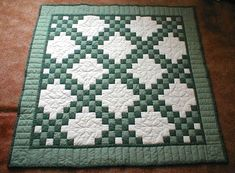 irish chain quilt with 3 colors | ... quilting areas in this one happy quilting all marcia o page 1 page 2