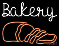 Bakery Real Neon Glass Tube Neon Sign,Affordable and durable,Made in USA,if you want to get it ,please click the visit button or go to my website,you can get everything neon from us. based in CA USA, free shipping and 1 year warranty , 24/7 service Open Pizza, Neon Food, Rainier Beer, Beer Bar, Handmade Art, Bakery, Tube, Neon Signs
