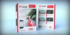 Projekt opakowania nowatorskiego systemu lokalizacji pojazdów DSLocate.    Chciałbyś zlecić podobną usługę? Zapraszamy do nas: dtpowiec.pl