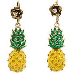 Betsey Johnson - Rio Pineapple Drop Earrings