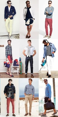Men's Summer Nautical Style: Boat/Deck Shoes Outfit Inspiration Lookbook