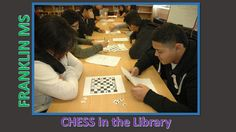 Franklin MS students play chess in the library