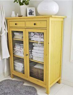 farm style cabinet. love the color