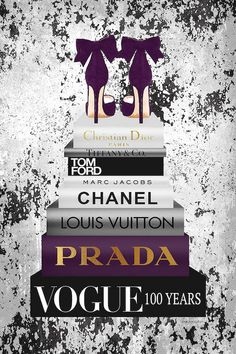 Canvas Wall Art by Amanda Greenwood Chanel Dekor, Desenio Posters, Chanel Wallpapers, Chanel Wall Art, Mode Poster, Name Canvas, Fashion Wallpaper, Black And White Aesthetic, Fashion Wall Art