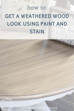 How to Get a Weathered Wood Look on Your Kitchen Table Top Using Paint & Stain Your Kitchen Tabletop is one of the hardest working areas in your home. Getting a Weathered Wood is a popular finish, but you need a way for it to hold up. Painting Laminate Table, Chalk Paint Table, Chalk Paint Kitchen, Laminate Table Top, Painting Cupboards, Chalk Paint Projects, Refinishing Kitchen Tables, Refinished Table, Kitchen Table Makeover