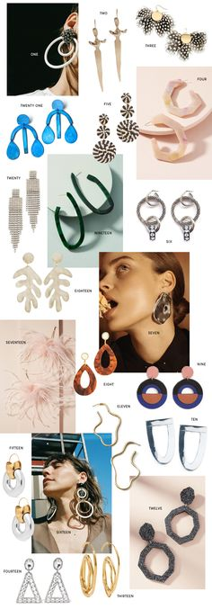 Anything bold and arty goes this season. Best paired with a more simple outfit - let the earrings do the talking!