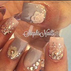 Stephanie Rochester @_stephsnails_ NeutralFlower #nu...Instagram photo | Websta (Webstagram)