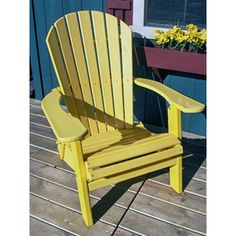 Phat Tommy Sunshine Yellow Recycled Plastic Adirondack Chair