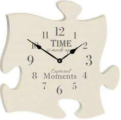 """""""Time is made up of captured moments"""" will perfectly complement your timeless photos. - Cream - Measures 12"""" x 12"""" square - all puzzle frames easily link together for a unique presentation"""