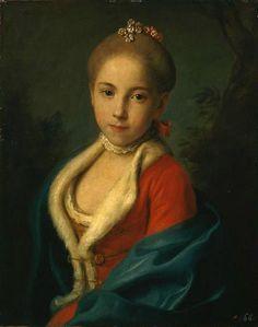 Pietro Antonio Rotari, Portrait of Ecaterina Petrovna Holstein-Beck, Later Princess Bariatinsky  1762