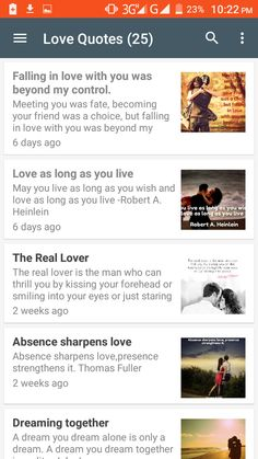 Love Quotes App Unique Love Quotes App Screenshot  Love Quotes Android App  Pinterest