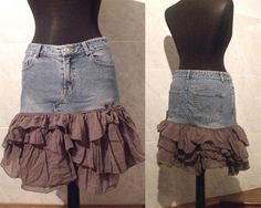 Vintage denim mini skirt $13, love!!