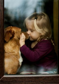 "Little Girl to Her Beloved Dog: ""The Secret I've just told you 'Chester' you mustn't tell anyone; Promise?!"" (Photo ~ 'Friendship' By: Agnieszka Gulczyńska.)"
