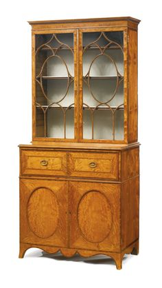 A George III inlaid tulipwood and satinwood secretaire bookcase circa 1790 | Lot | Sotheby's