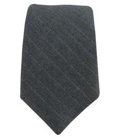 Wool Suiting - Slate Pinstripe (Skinny)