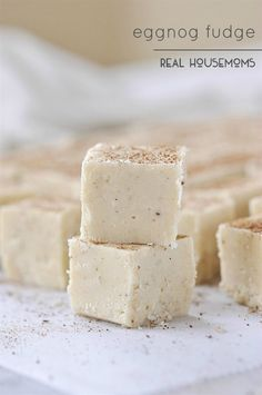 Eggnog is one of my favorite winter flavors and this EGGNOG FUDGE is everything I love in a holiday treat!