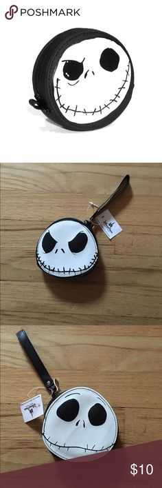 Authentic Disney Jack Skellington Wristlet New with Tags!   Authentic Disney Merchandise.  Double Sided, two faced.   Super cute Nightmare Before Christmas Jack Skellington Wristlet. Perfect for the upcoming Halloween season, or all year round! Disney Bags Clutches & Wristlets