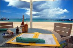 Photo: Lunch is served. The Four Seasons Resort, #Nevis, West Indies. Circa 2006