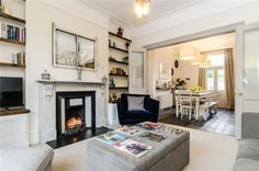 4 bedroom end of terrace house for sale in Foxcombe Road, BATH, Somerset, - Rightmove. Open Kitchen And Living Room, Living Room Plan, Living Room Remodel, Open Plan Living, New Living Room, Living Room Decor, Living Room Knock Through, Victorian Living Room, Victorian House