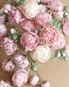 ...paper peony view! #paperflowers #paperpeonies #crepepaperflowers #handmade
