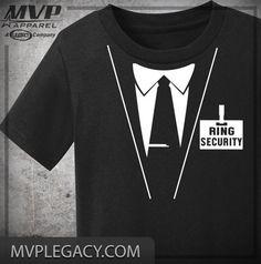 RING BEARER Tee   Ring Security Shirt   by MVPaLegacyCompany