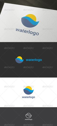 Water Logo — Vector EPS #sun logo #river logo • Available here → https://graphicriver.net/item/water-logo/899105?ref=pxcr