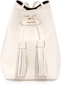 Trending On ShopStyle - Tom Ford Leather Small Tassel Bucket Bag Tom Ford  Handbags 6d5934e60ec87
