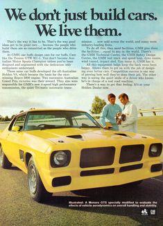 1973 HQ Holden Monaro GTS/Z Prototype Aussie Original Magazine Advertisement - List of the most beautiful classic cars Australian Muscle Cars, Aussie Muscle Cars, Hq Holden, Holden Torana, Holden Australia, Vintage Advertisements, Vintage Cars, Classic Cars, Advertising