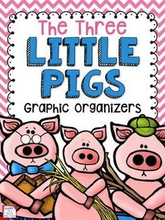 These graphic organizers are perfect for a fairy tale unit or a reading lesson using The Three Little Pigs and The True Story of the Three Little Pigs. Skills covered include: Characters and Character TraitsSettingProblem and SolutionPoint of ViewTheme or Fairy Tale Activities, Reading Activities, Reading Strategies, Three Little Pigs Story, Book Club Books, Book Clubs, Fractured Fairy Tales, Fairy Tales Unit, Fairy Tale Theme