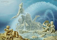 Johfra  Bosschart - The Fountains of Rome:  Fonteinenserie: Esedra-fontein. Najade en vogel 2 (June 17, 1987)