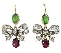 Antique Paste Bow Earrings    http://www.georgianjewelry.com/items/show/12882-antique-paste-bow-earrings