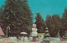 A ride at Santa's Village in Scotts Valley, CA Vintage Christmas Cards, Retro Christmas, Winter Christmas, Christmas Trees, Christmas Decor, Life In The 70s, Scotts Valley, Santa's Village, Lake Arrowhead