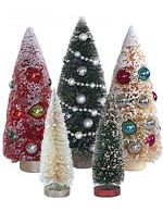 bottle brush trees - and many many other christmas supplies - jackpot