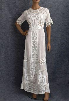 e7d241d8a79 Vintage Lace Dress Edwardian Fashion