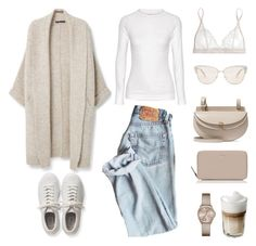 """Unbenannt #626"" by fashionlandscape ❤ liked on Polyvore featuring Violeta by Mango, adidas Originals, Chloé, Falke, Mimi Holliday by Damaris, DKNY, Kate Spade and Oliver Peoples"