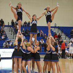 Cheer stunt if only I could put my leg up that high