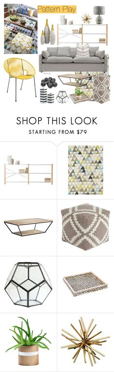 """""""Pattern Play"""" by rere-renove ❤ liked on Polyvore featuring interior, interiors, interior design, ev, home decor, interior decorating, Lundia, HARLEQUIN, Redford House ve Signature Design by Ashley"""