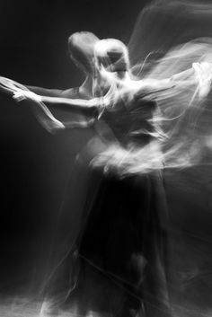 Wings by Alesja Popova. | movement | dance | freedom | ballet | angel | dancer | bw | long exposure